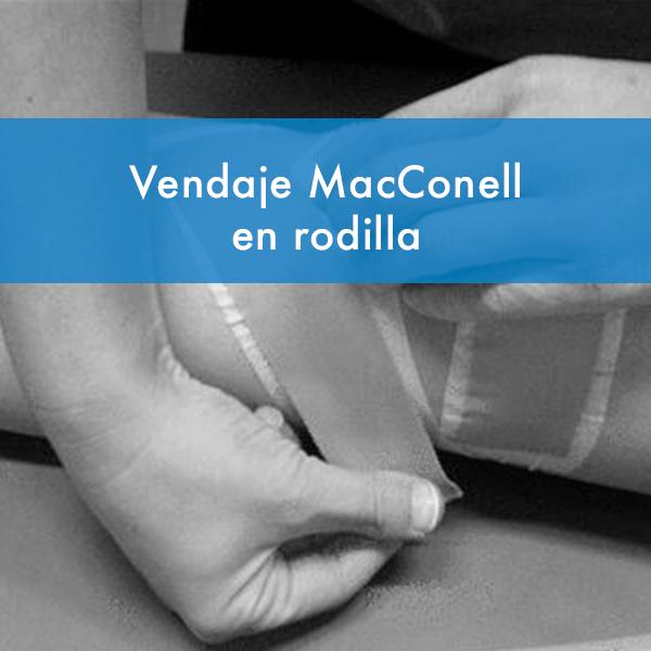Curso vendaje Macconell en rodilla fisiodocent